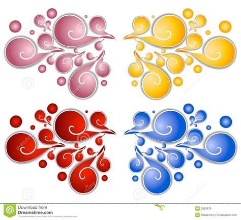 decorative swirls spirals  stock illustration