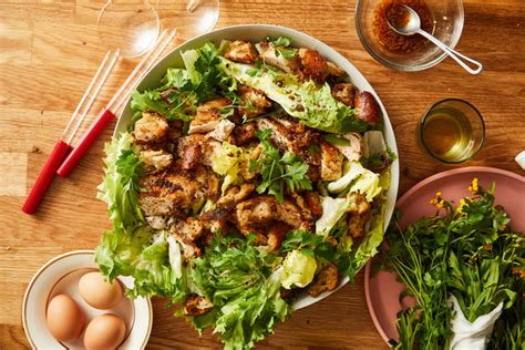 chicken  escarole salad  anchovy croutons recipe