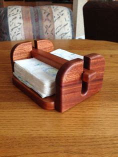 napkin holder   mahogany small wood projects