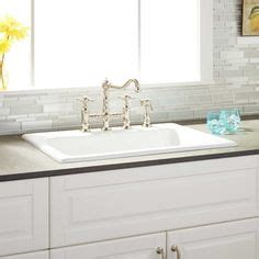 """46"""" Tansi Doublebowl Dropin Sink With Drain Board"""
