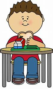 Boy Eating Cafeteria Lunch Clip Art - Boy Eating Cafeteria ...