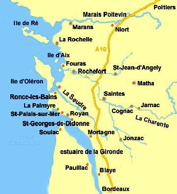 Carte De Plage Atlantique by Bernezac Charente Maritime La Rochelle Royan R 233
