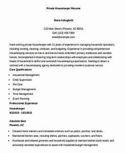 Housekeeper Resume Objective Housekeeping Manager Resume