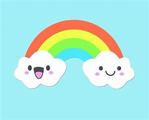 """Cute Clouds and Rainbow"" by KookyCool 