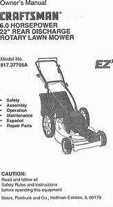 Craftsman 91737755a User Manual Rotary Mower Manuals And
