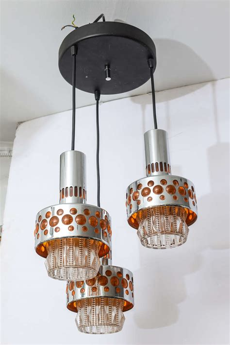 hanging 3 light chandelier with matching sconces at 1stdibs