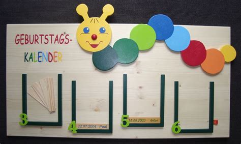 geburtstagskalender im kindergarten basteln geburtstagskalender raupe f 252 r kita k 228 ferkids auf dawanda basteltipps tage kalender