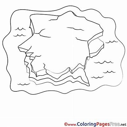 Iceberg Coloring Printable Pages Sheet Getcolorings Sheets