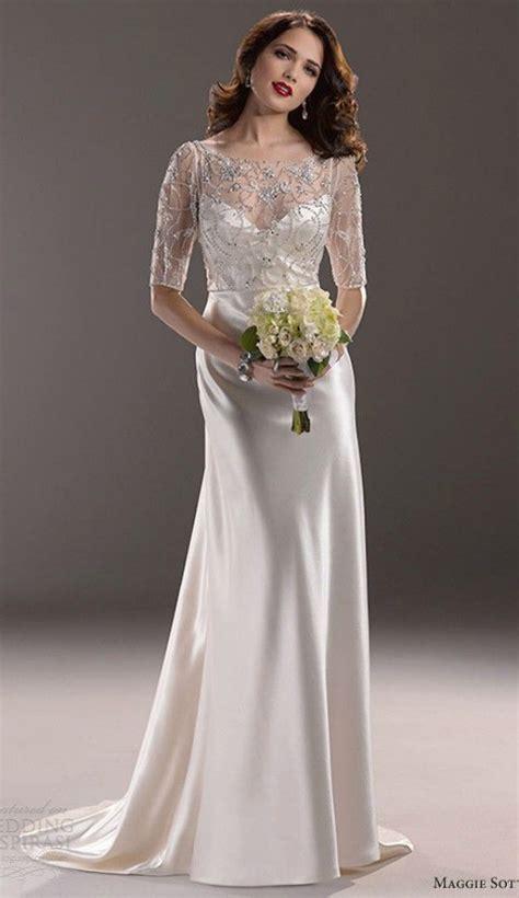 simple elegant wedding dress  older brides