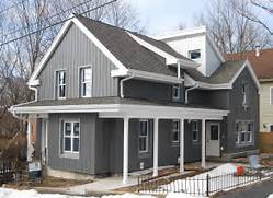 Exterior Options For Metal Buildings by Wrapping An Older House With Rock Wool Insulation