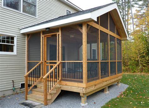 porch building plans screened porch building plans