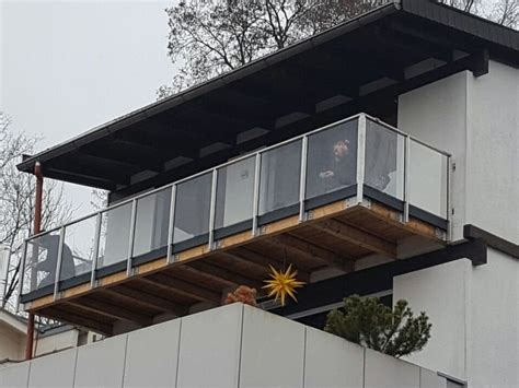 balkongeländer aus glas metallbau kliewer balkongel 228 nder glas