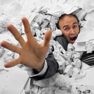 Image result for images of buried in paperwork
