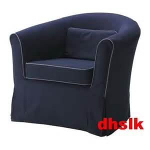 ikea ektorp tullsta armchair slipcover chair cover idemo blue