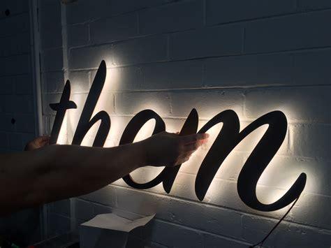 LED Strip Backlit Signage ? Lighting Matters