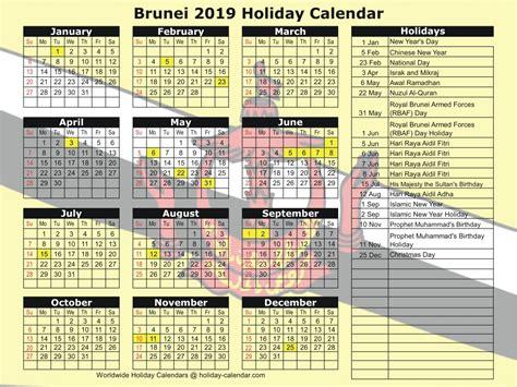 brunei holiday calendar
