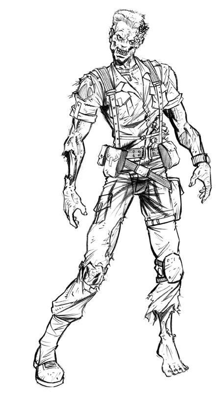 resident evil zombie drawings resident evil soldier