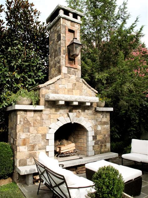rocky outdoor fireplace designs  stronger exterior
