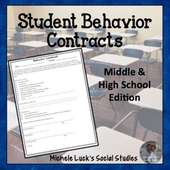 behavior contract  students middle  high school