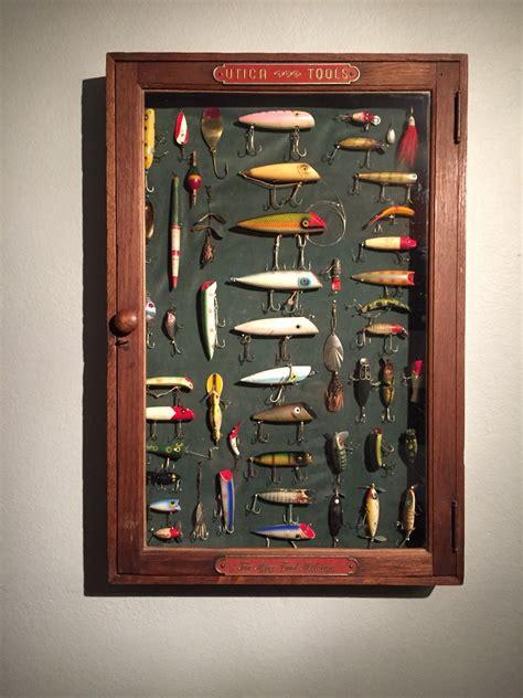 vintage fishing lure shadow box fishing lures vintage