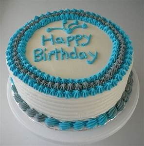 Simple Male Birthday Cake on Cake Central …   Buttercream ...