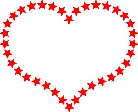 red heart outline border clipart clipground