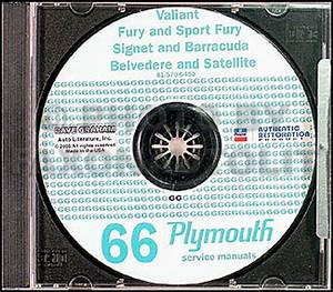 1966 Plymouth Cd Shop Manual 66 Barracuda Valiant Fury