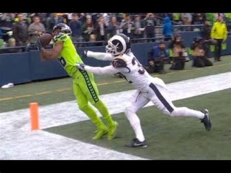 tyler lockett amazing touchdown catch rams  seahawks