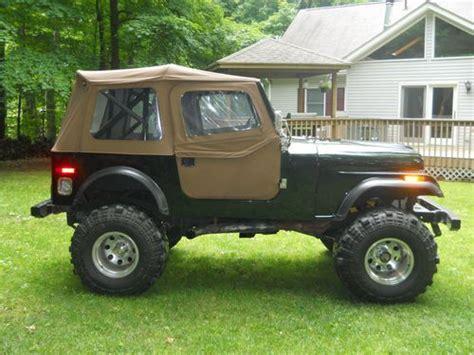 dark green jeep cj purchase used 1976 jeep cj7 fiberglass tub completely