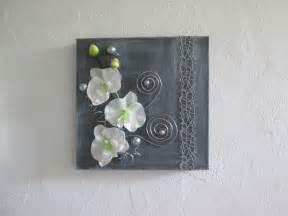 fleur blanche mariage tableau 3d avec fleurs artificielles orchidée blanche moderne floral composition florale