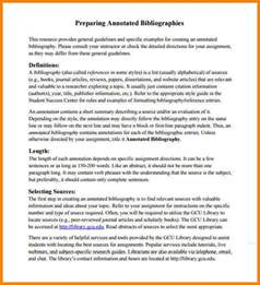 APA Annotated Bibliography Template