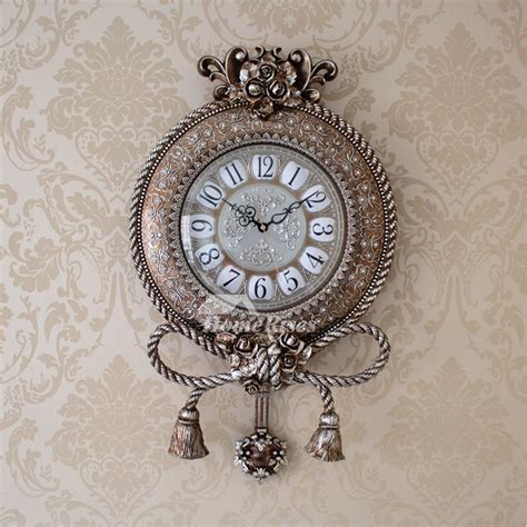 white wall clock silver hanging   abs plastic
