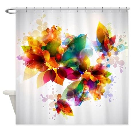 colorful floral shower curtain  showercurtainshop