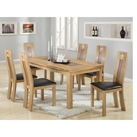 harvard solidoak dining table 6 chairs forever