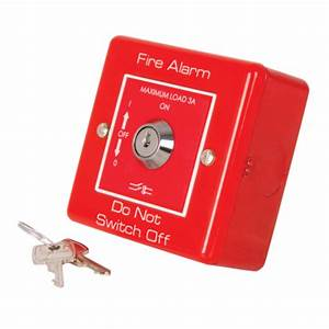 Fire Alarm Rotary Key Switch Metal Clad Red