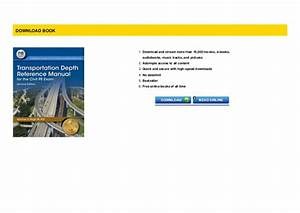 P D F  Transportation Depth Reference Manual For The