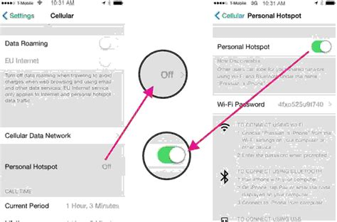 how to setup iphone as a mobile hotspot in ios 8