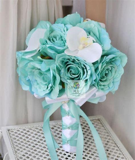 teal wedding bouquet teal tourquoise wedding bouquet ideas wedding bouquets 7931