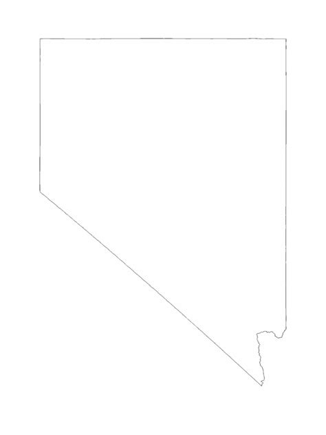 nevada map template   templates   word excel