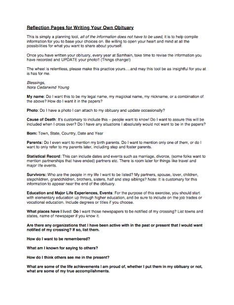 Writing An Obituary Template by 25 Free Obituary Templates And Sles Free Template