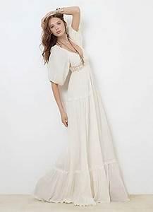 Robe Blanche Longue Boheme : robe longue boheme ~ Preciouscoupons.com Idées de Décoration