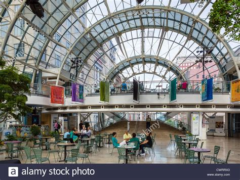 Cafe In The Indianapolis Artsgarden Spanning Illinois And