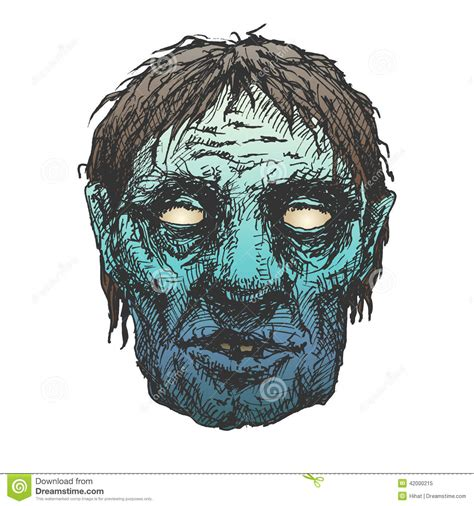 halloween monster mask drawing stock illustration