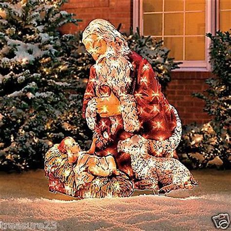 christmas santa baby jesus outdoor lighted yard display