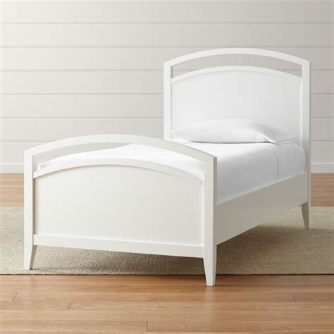 arch white twin bed reviews crate  barrel
