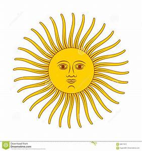 Vintage Retro Sun, Bright Color Illustration On White ...