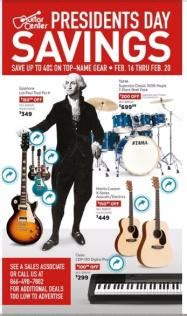 presidents day ads print ads