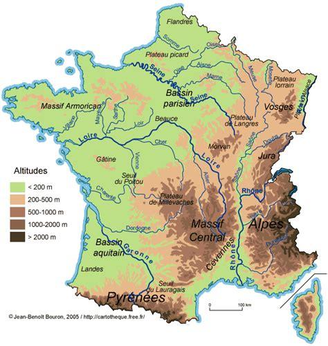 Carte De Avec Villes Fleuves Et Montagnes by Carte De Et Quiz
