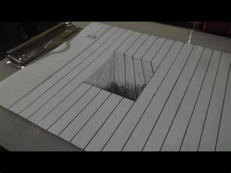 draw  simple  art  hole   paper youtube