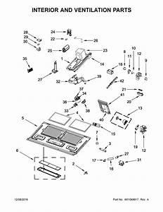 Kitchenaid Kmhc319ebl2 Microwave  Hood Combo Parts